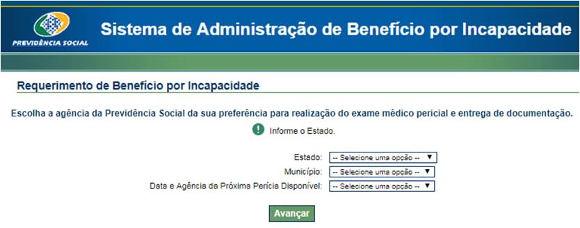 selecionar-agencia-da-pericia-do-inss